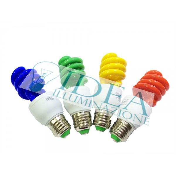 Lampadina a risparmio energetico spirale color e27 20w for Faretti a risparmio energetico