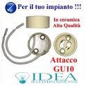Portalampade GU10 in ceramica