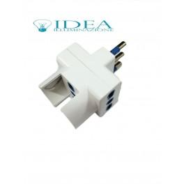 Doppia Spina elettrica con schuko adattatore 2P+T 10A 240V