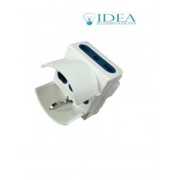 Doppia Spina elettrica con schuko adattatore 2P+T 16A 240V