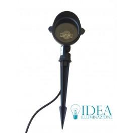 Picchetto faro nero per lampade Gu10