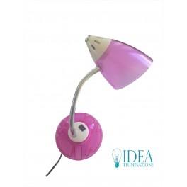 Lume scrivania moderno con porta accessori Rosa
