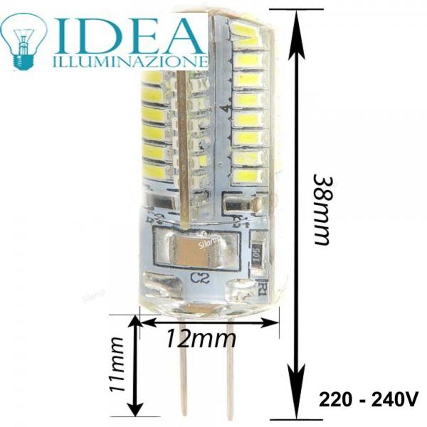lampadina G4 Led SMD 3w 3000K 220V