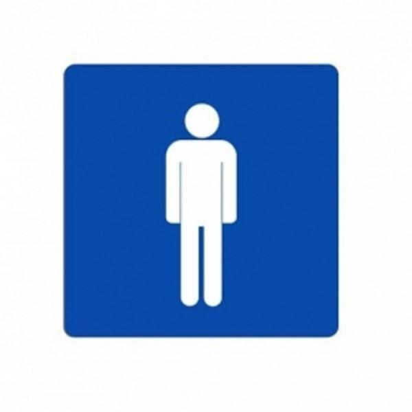 cartello wc bagno uomini maschi servizi colore blu