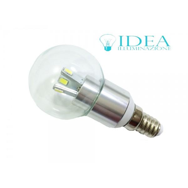 Lampadina a led e14 mini globo trasparente attacco piccolo for Lampadina led 3w