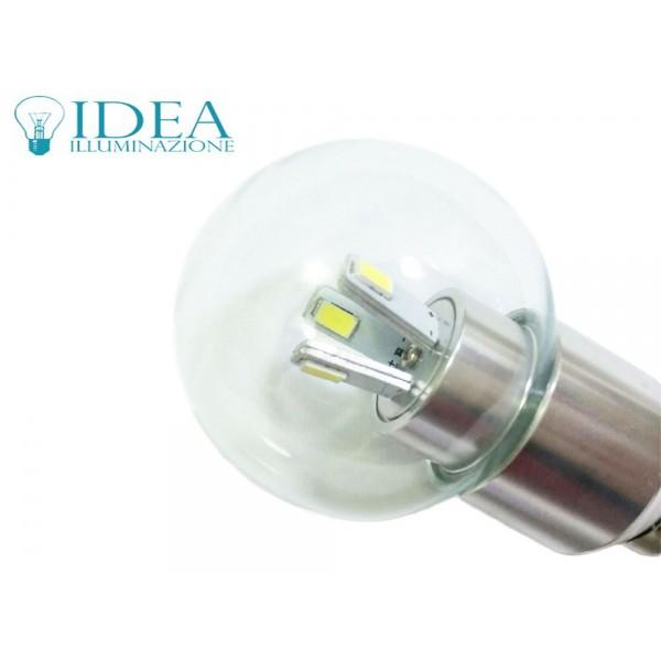 Lampadina a led e14 mini globo trasparente attacco piccolo 3w SMD luce fredda 2700K -> Lampadine Globo Led Trasparente